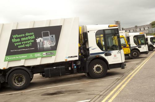 Branded vehicles used in Aberdeen for the MetalMatters programme