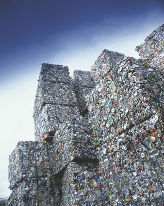 Bales of Aluminium Cans